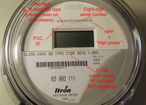Electric Meter Number : Grid insight itron ert technology